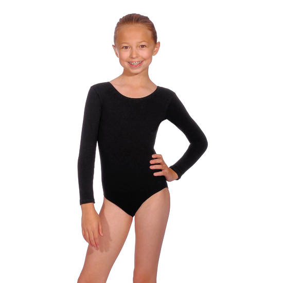 Girls Long Sleeved Leotard Dance Clothes Dance Shoes