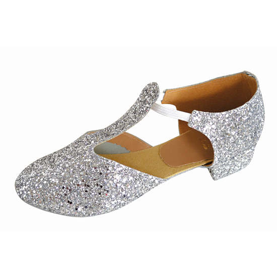 Greek Sandals ( in silver glitter)